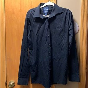 Men's Stanford Black fitted shirt size 16 1/2